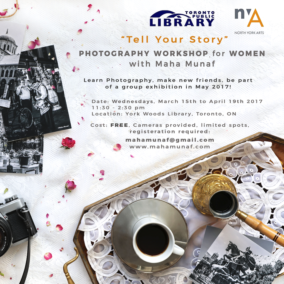 """Tell Your Story"" Photography Workshop For Women"