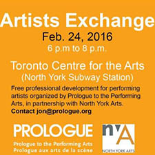 ARTISTS EXCHANGE with PROLOGUE for the Performing Arts