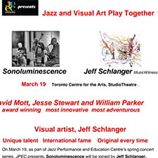 JPEC Presents: Sonoluminescence Trio together with Visual Artist Jeff Schlanger