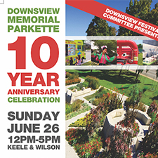 Downsview Memorial Parkette 10 Year Anniversary
