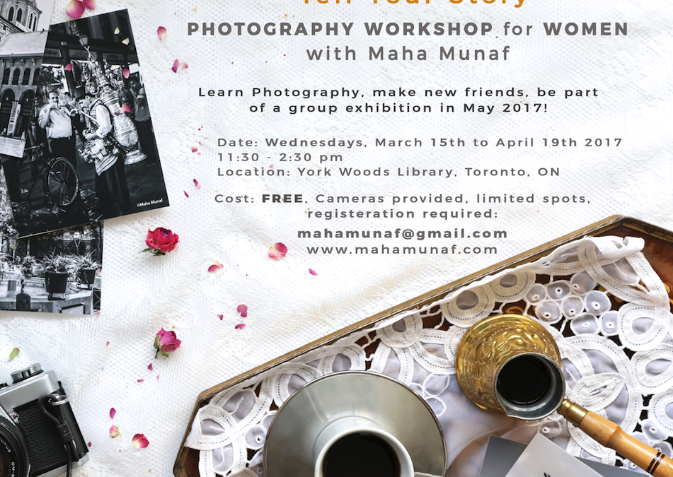 """""""Tell Your Story"""" Photography Workshop For Women"""