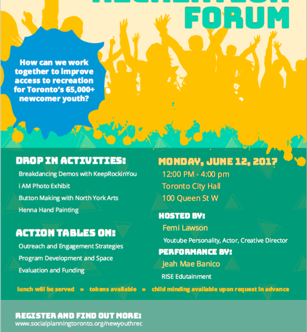 Newcomer Youth Recreation Forum