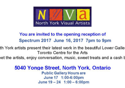 North York Visual Artists present: Spectrum